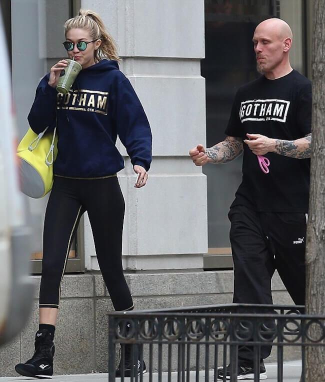 Gigi Hadid after a gym session