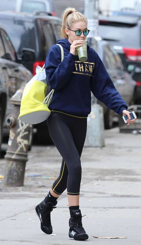Gigi Hadid out in New York City after an intense boxing workout session