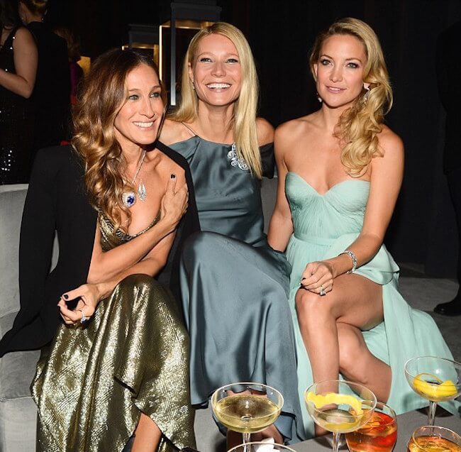 Gwyneth Paltrow with friends