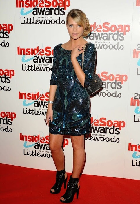 Indiana Evans during Inside Soap Awards