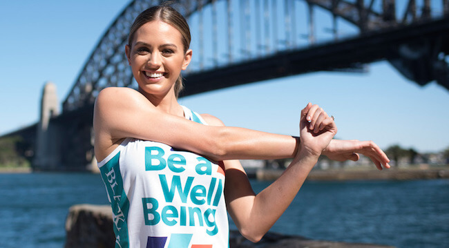 Jesinta Campbell is the ambassador of Blackmores Sydney Running Festival