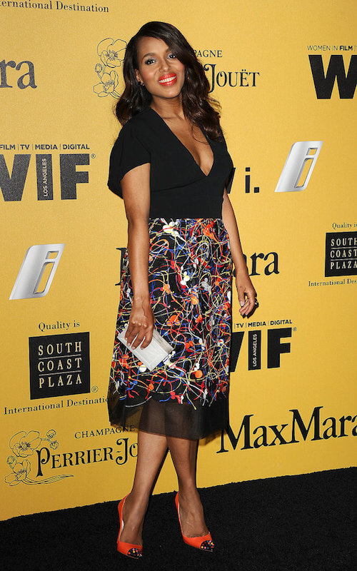 Kerry Washington at Crystal Lucy Awards 2014 just weeks after giving birth
