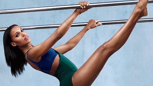 Kerry Washington workout pose