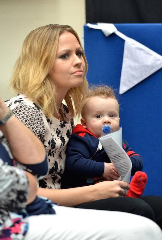 Kimberley Walsh with her son, Bobby Jay Scott