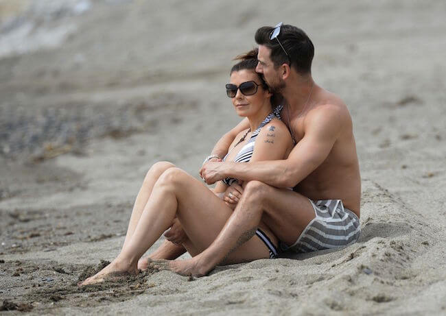Kym Marsh with her personal trainer and ex-flame, Dan Hooper enjoying a romantic beach break in Marbella, Spain on April 25, 2015