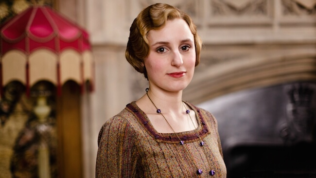 "Laura Carmichael on the set of ""Downton Abbey"""