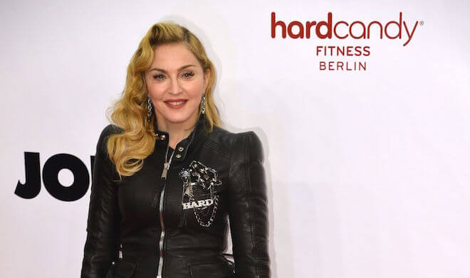 Madonna attends the Hard Candy Fitness Grand Opening in Berlin in 2013