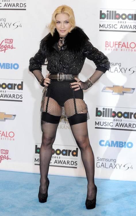 Madonna revealing her figure