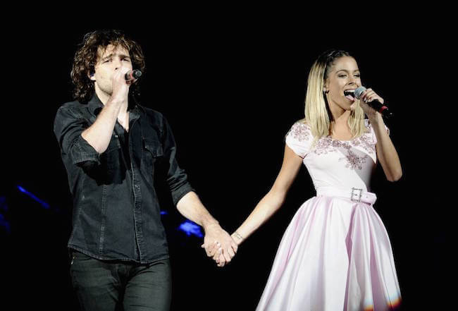 Martina Stoessel and her boyfriend Juan Pedro Lanzani performing together