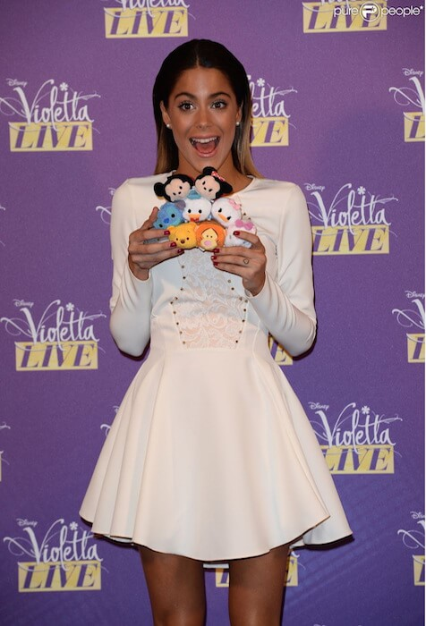 Martina Stoessel attends the 'Violetta Live 2015' photocall on January 29, 2015 in Milan, Italy