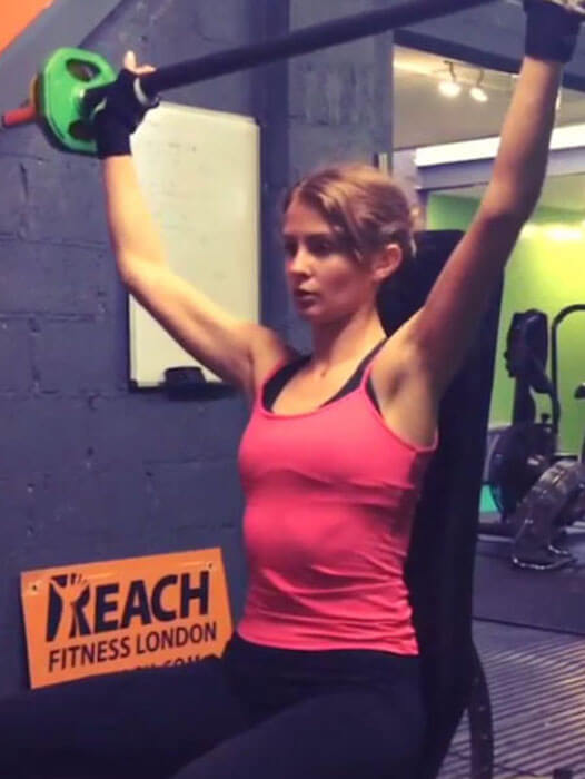 Millie Mackintosh shoulder workout