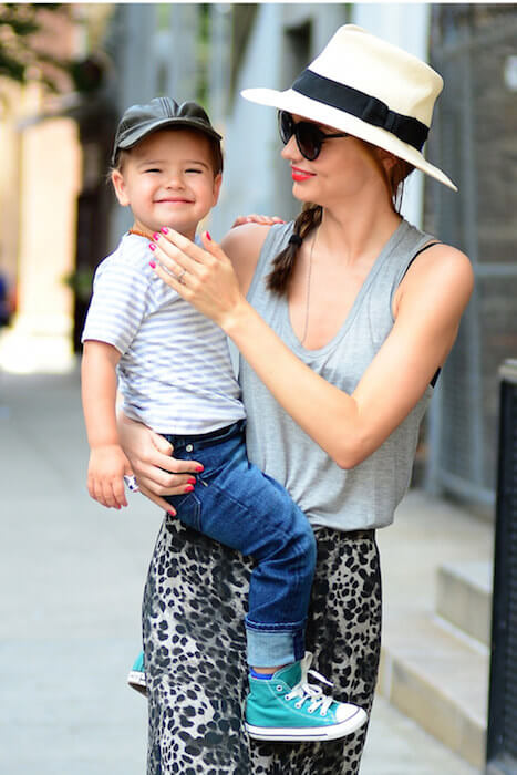 Miranda Kerr with her son Flynn Christopher Blanchard Copeland Bloom