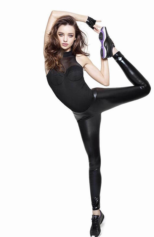 Miranda Kerr workout pose