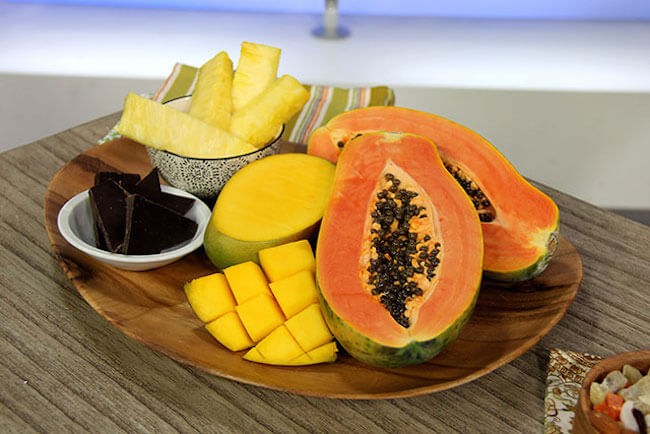 Papaya and Pineapple