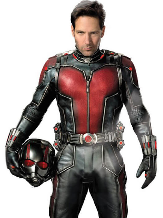 Paul Rudd wearing his Ant-Man suit