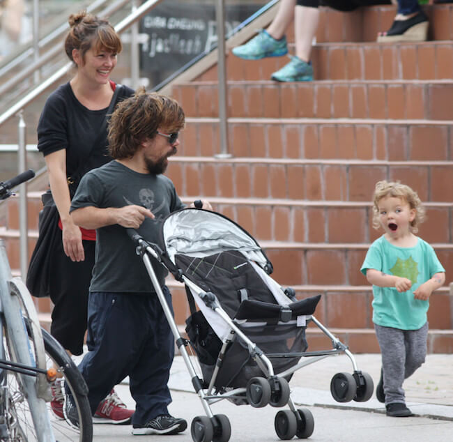 Peter Dinklage with wife Erica Schmidt and daughter Zelig