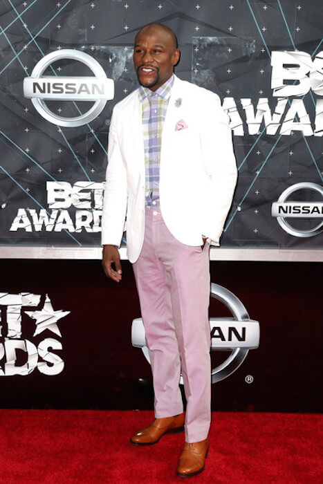 Floyd Mayweather, Jr. arrives at the 2015 BET Awards at the Microsoft Theater on June 28, 2015 in Los Angeles, California
