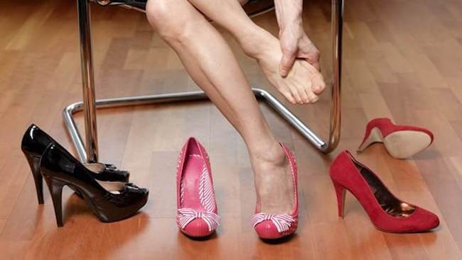 Restrict high heels