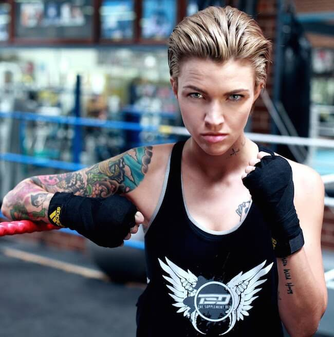 Ruby Rose loves boxing