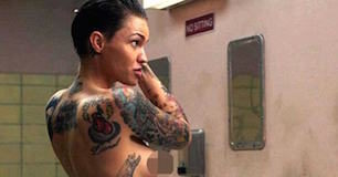 Ruby Rose shower