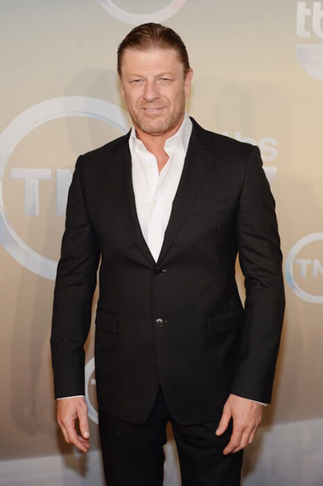 Sean Bean arriving at the TBS TNT Upfront 2014 at The Theater at Madison Square Garden on May 14, 2014 in New York City