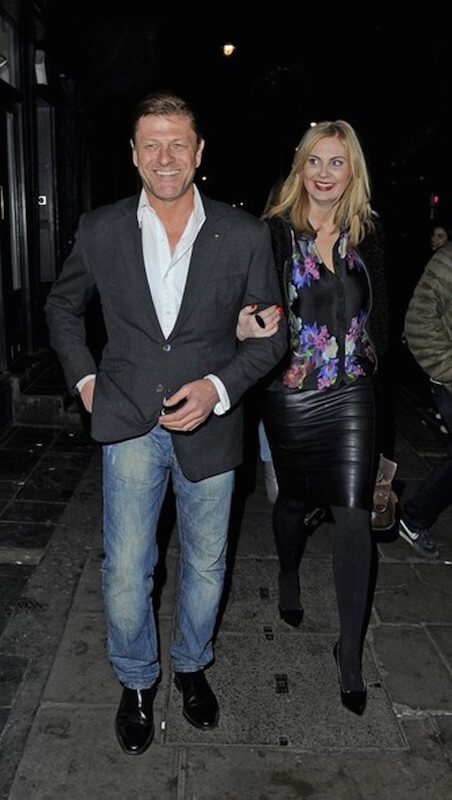 Actor Sean Bean was seen leaving the Groucho club with his girlfriend Ashley Moore in London in November 2013
