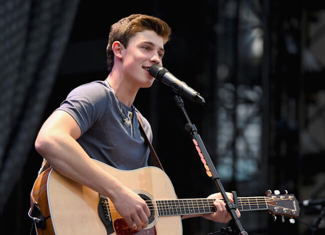 Shawn Mendes opens for Taylor Swift onstage during The 1989 World Tour on June 12, 2015 at Lincoln Financial Field in Philadelphia, Pennsylvania