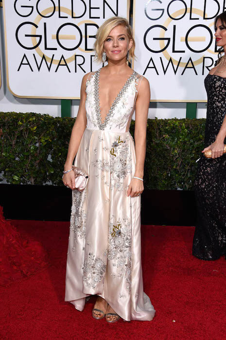 Sienna Miller at the Golden Globe Awards 2015