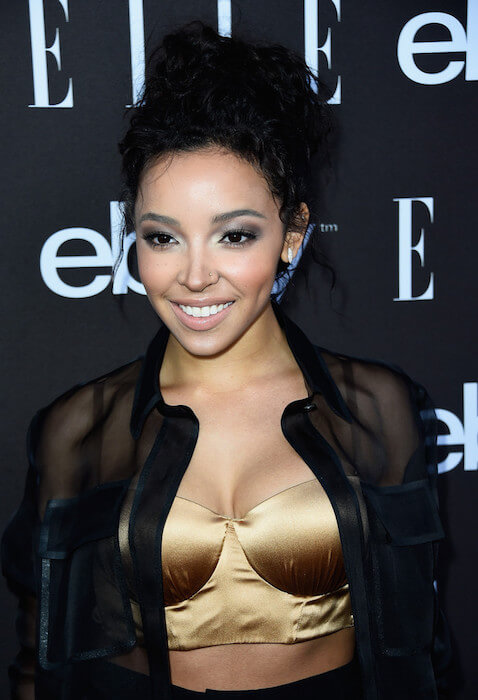 Tinashe arrives at the 6th ELLE Women In Music Celebration Presented By eBay at Boulevard3 on May 20, 2015 in Hollywood, California