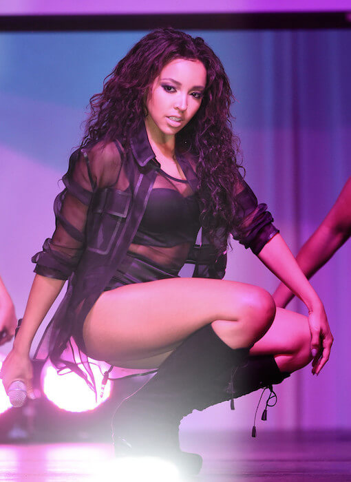 Tinashe performs on stage at the 6th ELLE Women In Music celebration presented by eBay on May 20, 2015