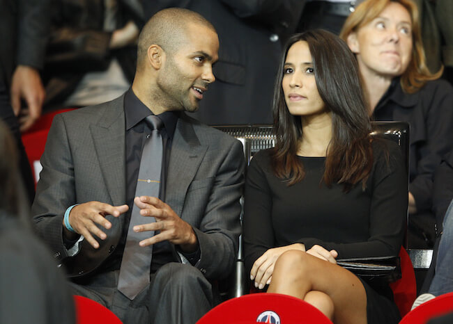 Tony Parker and his wife Axelle Francine in 2013