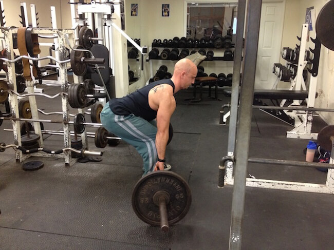 Turning deadlift into a squat