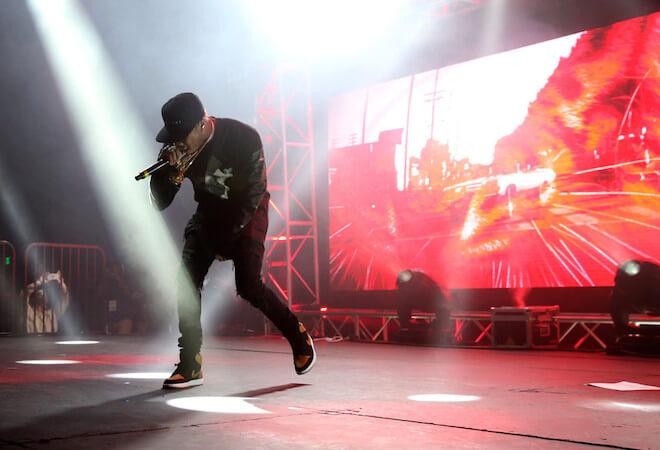 Tyga performing in Hollywood, California at Siren Studios on May 9, 2015