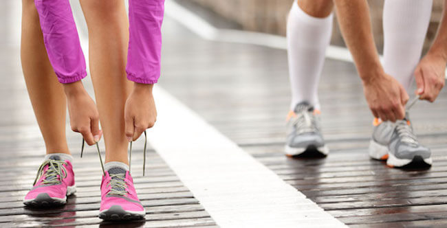Are you going to Walk? Tie your shoe laces properly