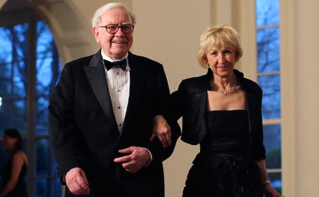 Warren Buffett and Astrid Menks