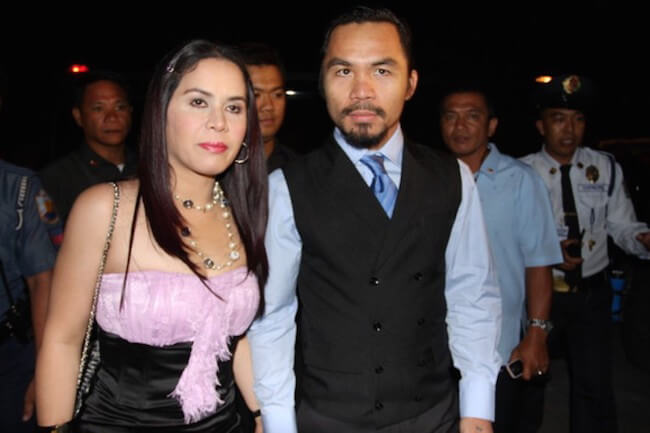World welterweight boxing champion, Manny Pacquiao and wife Jinkee Pacquiao were spotted at the KCC Mall on May 15, 2010 in General Santos, Philippines