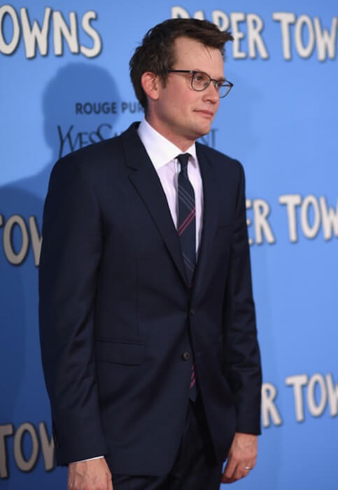 Writer John Green arrives at the 'Paper Towns' New York Premiere at AMC Loews Lincoln Square on July 21, 2015 in New York City