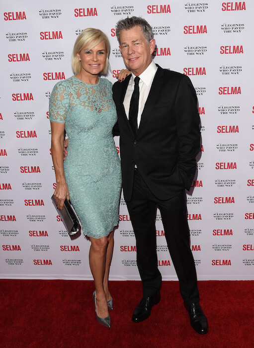 Yolanda Foster and husband David Foster on December 6, 2014 in California