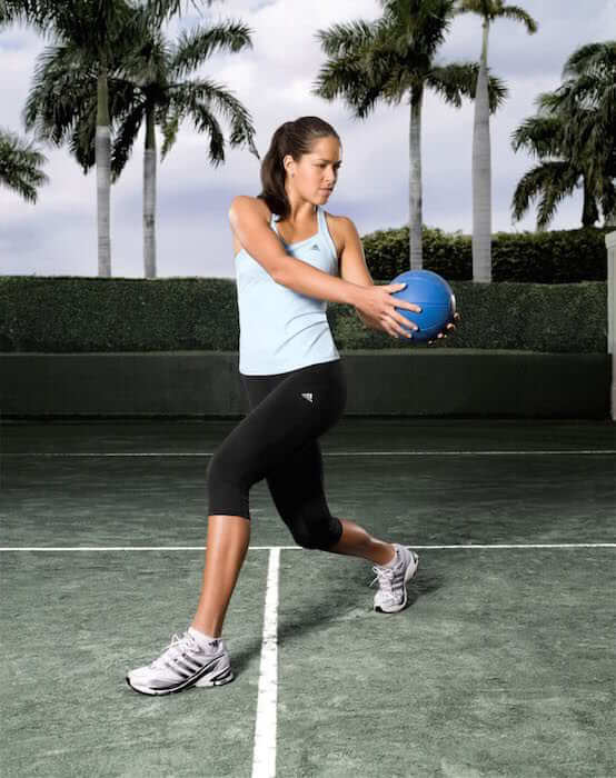 Ana Ivanovic working out