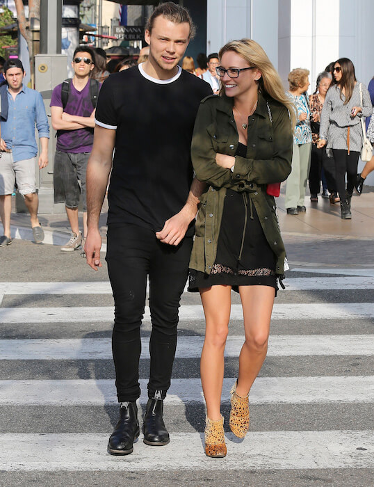 Ashton Irwin and Bryana Holly on the Grove Los Angeles Shopping Trip