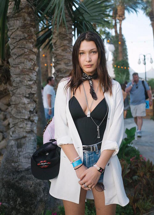 Bella Hadid at Coachella Street Style 2015
