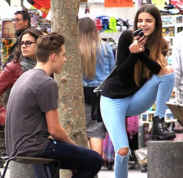 Brooklyn Beckham with girlfriend Sonia Ben Ammar