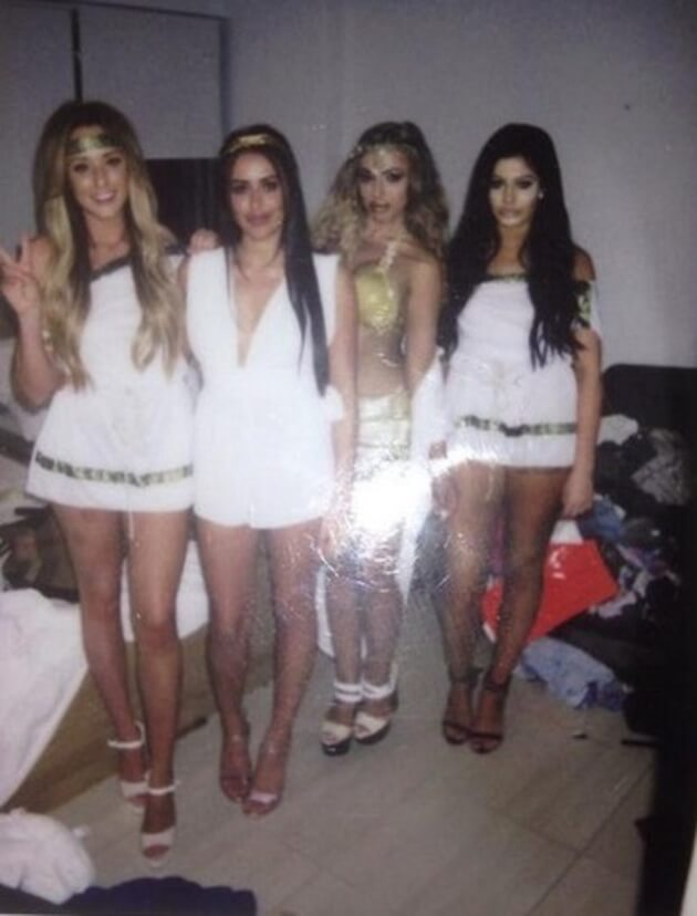 All 4 girls - Chloe Etherington, Charlotte Crosby, Holly Hagan, and Marnie Simpson as on June 4, 2015