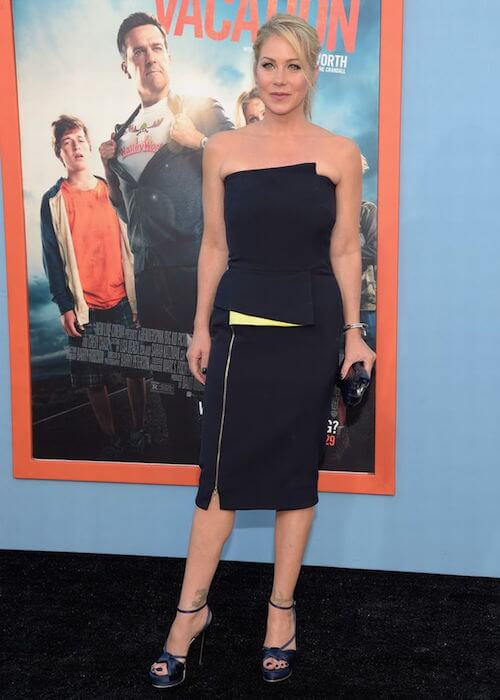 """Christina Applegate during the premiere of Warner Bros """"Vacation"""" in 2015"""
