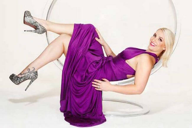 Claire Richards during a photo shoot