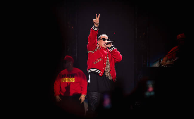 Daddy Yankee performing at the iHeartRadio Fiesta Latina festival on November 22, 2014 in Inglewood, California