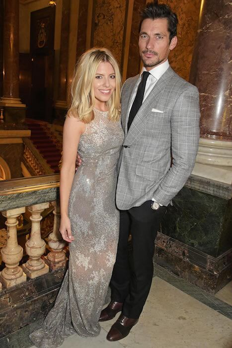 David Gandy & Mollie King at the LDNY Catwalk Show in London on April 27, 2015