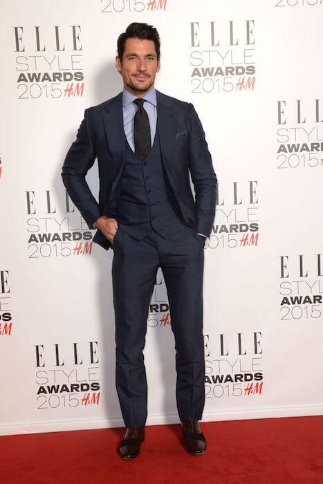 David Gandy at Elle Style Awards on February 24, 2015