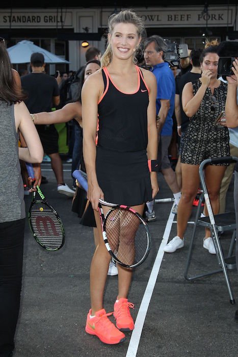 Eugenie Bouchard at Nike's 'NYC Street Tennis Event' in New York City in August 2015