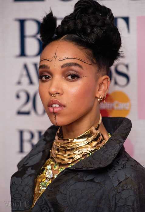 FKA Twigs during nominations launch for BRIT Awards 2015